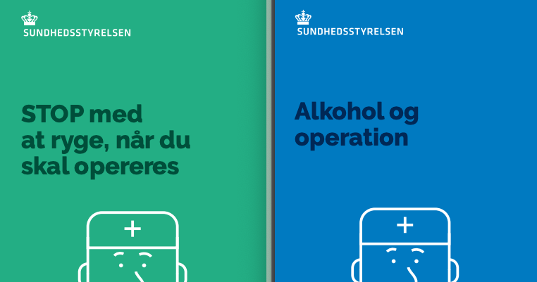 Nye pjecer fra Sundhedsstyrelsen om rygning og alkoholforbrug